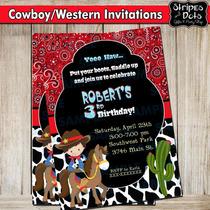 Invitaciones De Vaqueros-cowboy