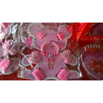 10 Set Nena Pulsera Hebillas Colitas/ Cumpleaños/souvenirs