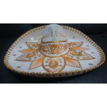 Sombrero Charro Blanco Adulto Artesania Fino Fabricante Oro