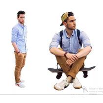 Calça Masculina Colorida 8 Cores Lycra Slim Veste Excelente