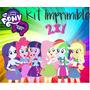 Kit Imprimible Equestria Girls Mod.1 Candy Bar Invitaciones