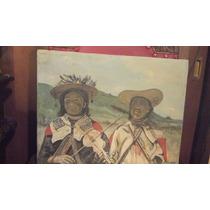 Oleo Antiguo , Indigenas , Escena Costumbrista 1968