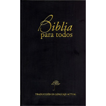 Biblia Mediana Traducción Lenguaje Actual Vinil Negro