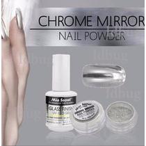 Polvo Espejo Mia Secret Original Chrome Mirror + Base Y Top