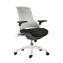 Poltrona Office Sória Branca Giratória Cadeira Computador
