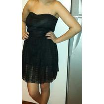 Vestido Strapless De Encaje Corto ..