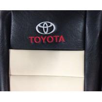 Fundas Cubre Asiento Toyota Hilux D/c Cuerina Autom Hueso
