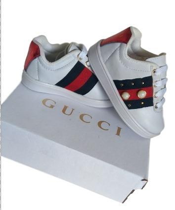 fc421709e9d46 Tenis Infantil Gucci Inspiração Promocao 20 Ao 25 - R  44
