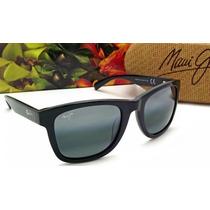 293-02 Lente Maui Jim Legends Negro Brillante/gris Neutro