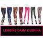 Leggins De Cuerina, Blusa,panty,mayor Algodon,top,estampado