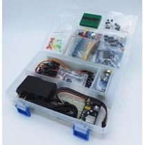 Kit Starter Electronica Basica Protoboard Voltmetro Cables