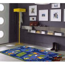 Carpeta Alfombra Calles Pista 100 X 140cm Infantil Fundasoul