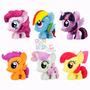 6 Figuras Goma Tv My Little Pony Mi Pequeño Pony Orig Hasbro