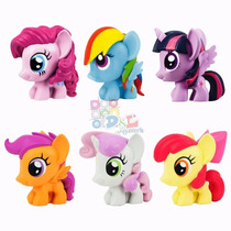 6 Figuras Goma Tv My Little Pony Mi Pequeño Pony Orig Hasbro