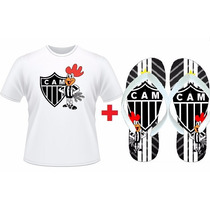 Kit Atletico Mineiro Time Camiseta + Chinelo Personalizado
