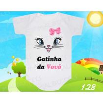 Body Bebe Gatinha Da Vovó Titia Dinda Frases Divertido