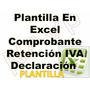 Plantilla En Excel Comprobante Retención Iva Declaración