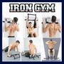 Iron Gym Barra Gimnasio Puerta Ejercita Músculos Maquinas