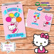 Bolsitas Golosineras Hello Kitty 2 Nena Rosa Personalizadas