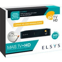 5 Receptores Elsys Oi Tv Livre Hd Etrs35/37 Sem Mensalidade!