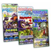 Diseño De Invitaciones Imprimibles Plantas Vs Zombies