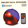 Parlante Bluetooth Esfera De Colores Q8 Con Luces !!