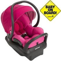 Bebê Conforto Maxi Cosi Mico Max 30 Rosa Com Base Preta