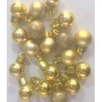 Enfeite De Natal Bola Mista 2cm X 36 Gold - 2 Potes