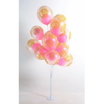 Varetas Suportes P 15 Balões Que Imitam Gás Hélio Em Aço 1pç