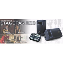 Combo Cornetas Y Consola Amplificada Yamaha Stagepass 300