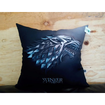 Cojín Game Of Thrones Got Serie Tv Regalo Winter Lobo Deco