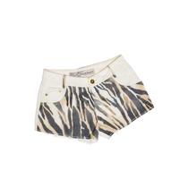 Shorts Degrant Sarja Zebra Off White - Queima De Estoque