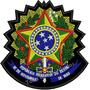 Patch Bordado Brasão Da Republica Fed. Brasil 11x11cm Bra45