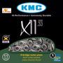 Corrente 11v Kmc X-11 Silver Cromada Bike Para Shimano Sram