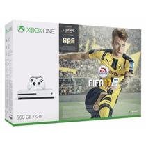 Xbox One S 500gb Slim Microsoft 4k Branco + Jogo Fifa 17