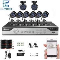 Kit Camaras Seguridad Dvr 8ch 8cam Cctv Combo No Disco