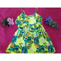 Promo Modelo De Vestido Floral C Detalhe Renda E Zíper Verde