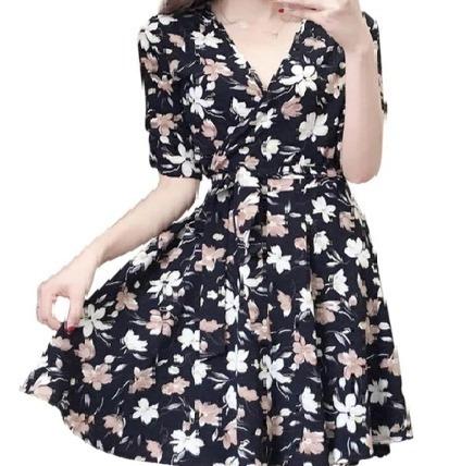 342ca4ea6 Vestido Feminino Floral Evasê Moda Manga 3/4 Tam U 36 A 42 - R$ 39,90 em  Mercado Livre