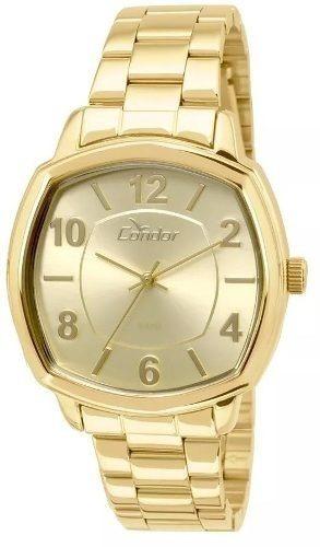 Relógios Femin Condor Original Aço Quartzo Dourado C  N F - R  140,95 em  Mercado Livre 1549bdbbf2