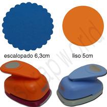 Furador Scrapbook Círculo Escalopado 6,3cm +circulo Liso 5cm