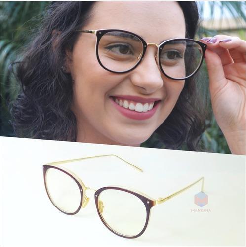 Armação Óculos Grau Feminino Geek Redondo Quadrado Marrom - R  44,00 em  Mercado Livre 3bf3f4eca2