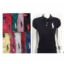 Blusa Camisa Polo Feminina Kit 3 Peças Varias Cores