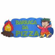 Painel Eva- Placa Barraca Da Pizza - Festa Junina