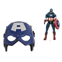 Combo Muñeco Y Mascara Avengers Juguete Niños Hulk Spiderman