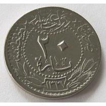Turquia Imperio Otomano 20 Para 1911 (1327//3), Muy Bueno