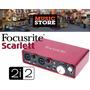 Focusrite Scarlertt 2i2 2.0 Placa Audio Interfaz Usb 2da Gen