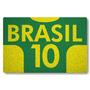 Tapete Capacho Personalizado Brasil 10 - Verde Bandeira - 60