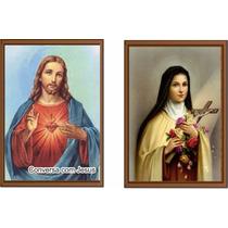 Santinho Santa Teresinha E Conversa Com Jesus Milh De Cada