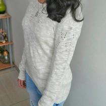 Blusa Sweater Liviano Dama Cola Pato Slim