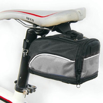 Mochila Bolsa Impermeable Asiento De Bicicleta Gris D1099
